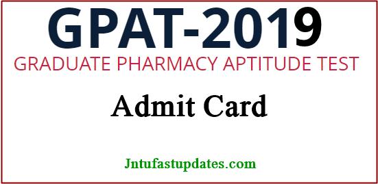GPAT Admit Card 2019
