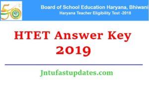 HTET Answer Key 2018-19