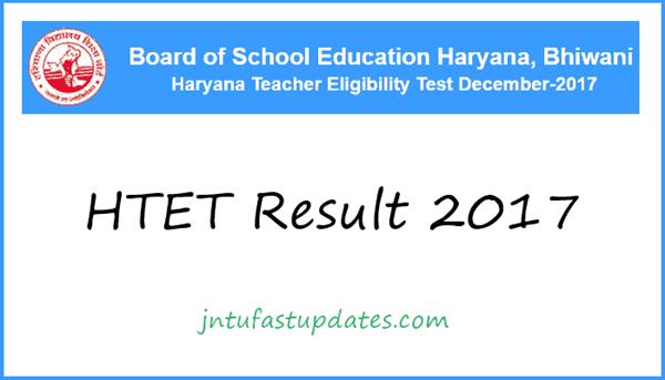 HTET Result 2017