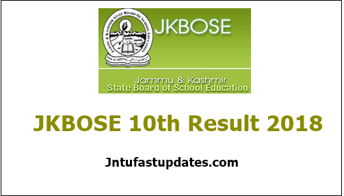 JKBOSE 10th Result 2018