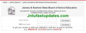 JKBOSE 10th Result 2018 (Released) – Jammu Division JK Board 10th Class Bi Annual Results @ jkbose.jk.gov.in