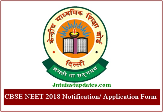 NEET 2018 Application Form Apply Online