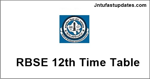 Rajasthan board 12th time table 2018 rbse sr secondary for 8th board time table