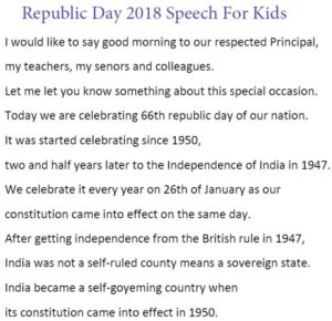 Republic Day Speech in English 2018 For Kids, School Students, Teachers