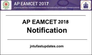 AP EAMCET 2018 Notification, Application Form Online, Exam Dates Released @ sche.ap.gov.in