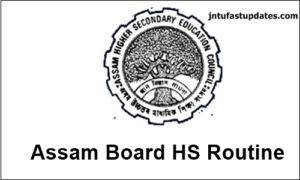 Assam HS Routine 2018 – AHSEC 12th Class Time Table PDF Download @ www.ahsec.nic.in
