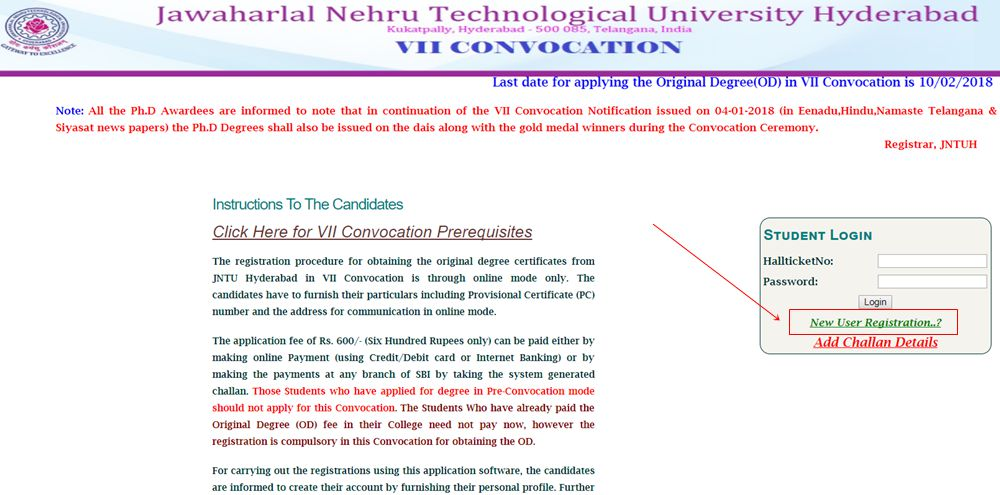 jntuh-New-User-Registration-for-OD-vii-convocation
