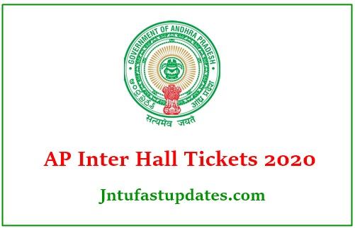 AP Inter Hall Tickets 2020