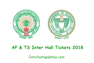AP/ TS Inter 1st & 2nd year Hall Tickets 2018