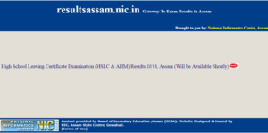 SEBA HSLC Result 2018 – AHM/Assam 10th Class Results Name Wise Marks @ resultsassam.nic.in