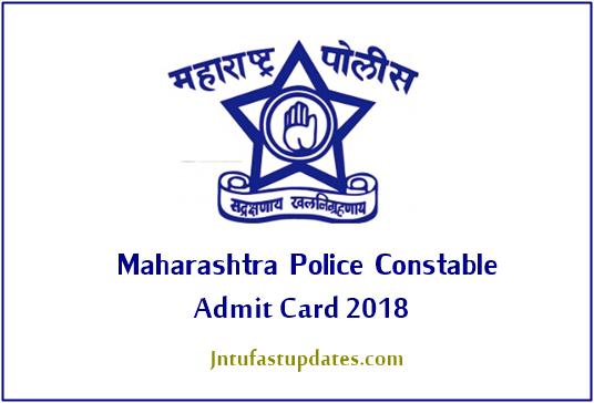 Maharashtra Police Constable Admit Card 2018