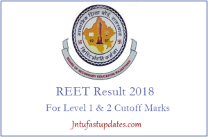 REET Results 2018 Released – Check Level 1 & 2 Cutoff Marks, Merit List Name Wise @ reetbser.com