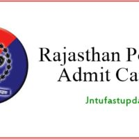 Rajasthan Police Constable Admit Card 2018