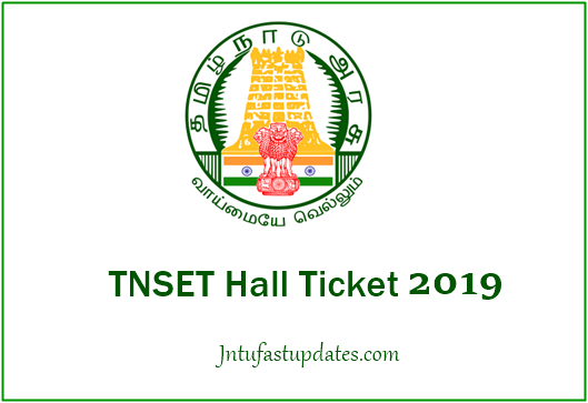TNSET Hall Ticket 2019