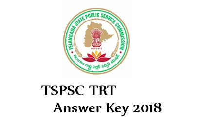 TSPSC TRT Answer Key 2018 Download