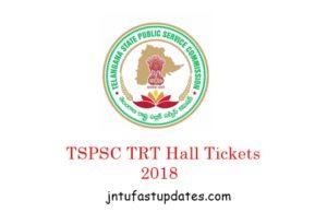 TS TRT Hall Tickets 2018 Download