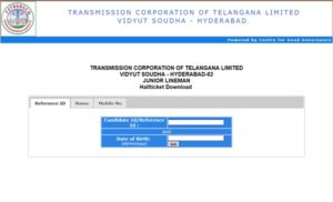 TS TRANSCO Hall Ticket 2018 Download