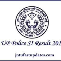 UP Police SI Result 2017