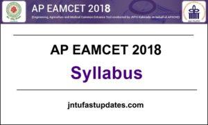 AP EAMCET 2018 Syllabus PDF (Engineering & Medical) – Online Exam Pattern