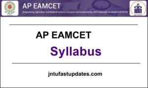 AP EAMCET 2019 Syllabus