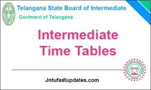 telangana inter time table 2019