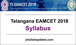 TS EAMCET Syllabus 2018 – Telagana EAMCET Syllabus for Engineering & Medical