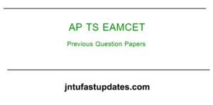 AP/ TS EAMCET Previous Question Papers With Answer Keys Solutions Download