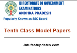 AP Tenth Class Model Papers 2018