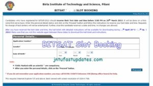 BITSAT Slot Booking 2018