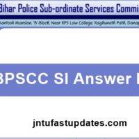 BPSCC SI Answer Key 2018