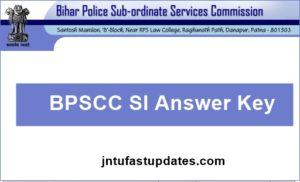 Bihar Police SI Answer Key 2018 – 11th March Bihar Sub Inspector Prelims Daroga Cutoff marks @ bpssc.bih.nic.in
