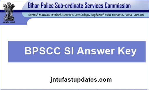 BPSCC SI Answer Key 2018