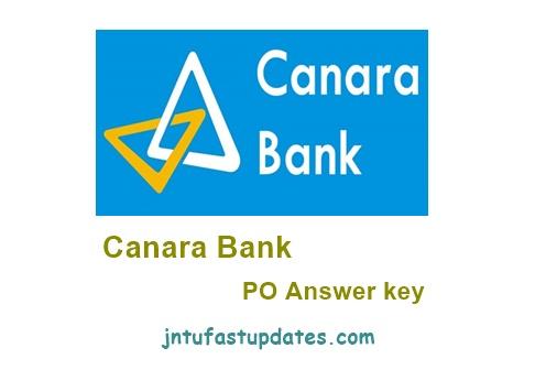Canara Bank PO Answer Key 2018