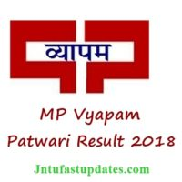 MP Vyapam Patwari Result 2018