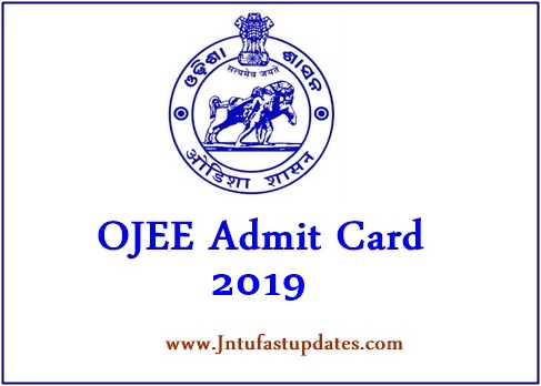 OJEE Admit Card 2019 (Released) – Download Odisha JEE Hall Tickets