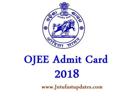 OJEE Admit Card 2018