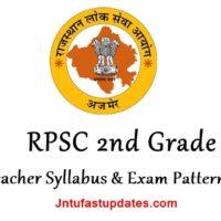RPSC 2nd Grade Teacher Syllabus