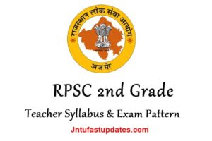RPSC 2nd Grade Teacher Syllabus & Exam Pattern 2018 – Download Subject wise PDF