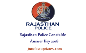 Rajasthan Police Constable Answer Key 2018 Download