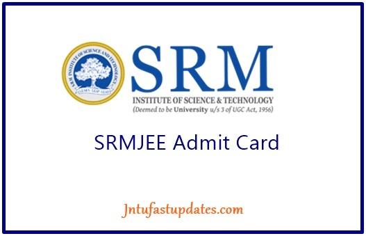 SRMJEEE Admit Card 2019