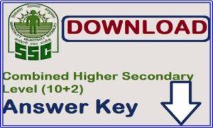 SSC CHSL Tier 1 Answer Key 2018