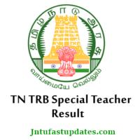 TN TRB Special Teacher Result 2018