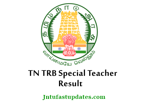 TN TRB Special Teacher Result 2018