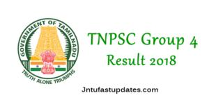 TNPSC Group 4 Result 2018 – Tamil Nadu CCSE GR IV Results, Cutoff Marks, Merit List @ tnpsc.gov.in