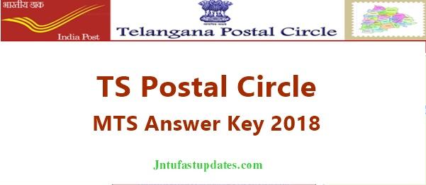 Telangana Postal Circle MTS Answer Key 2018