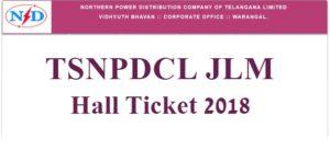 TSNPDCL JLM Hall Ticket 2018