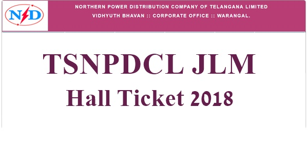 TSNPDCL JLM Hall Ticket 2018