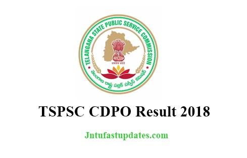 TSPSC CDPO Result 2018