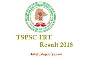 TSPSC TRT Results 2018 – Telangana Teacher Cutoff Marks, SA SGT LPT Merit List @ tspsc.gov.in