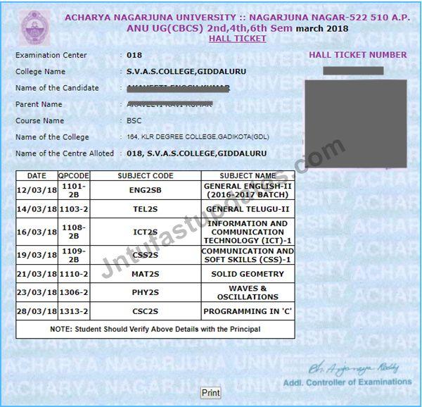 anu degree hall tickets 2018
